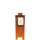 wholesale Wind Lights & Lanterns: Metal lantern, length 24cm, width 24cm, height 55c